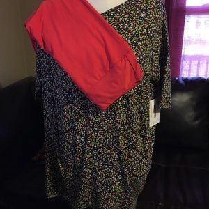 LLR Outfit XXS Black Irma & Red/Orange OS Leggings